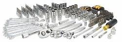 DEWALT Drive Ratchet Socket Wrench Hex Key Bit Mechanics Tool Set 200 Piece