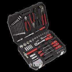 DIY Mechanic Sockets Ratchets Screwdrivers Hammer Pliers Tool Kit 100pc In Case