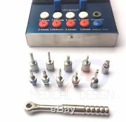 Dental Implant Ratchet Wrench 4.00 mm Full Set Drivers + Latch Adopter