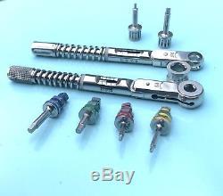 Dental Implant Torque Wrench Ratchet Kit 10-70 NCM & 10-40 NCM with Driver Set
