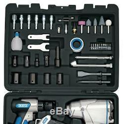 Draper 50pc Air Tool Kit Set Impact Wrench Blow Gun Chisel Ratchet Die Grinder