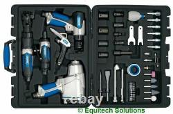 Draper 84129 Air Impact Wrench Ratchet Hammer Die Grinder Blow Gun 50-Pc Kit Set
