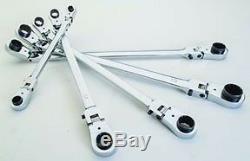 EZ RED 5pc XXL Reversible Ratcheting Spline Wrenches with Locking Flex Head #WR5ML