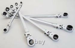 EZ-RED #WR5ML 5-Piece Extra-Long Locking Flex Head Wrench Set