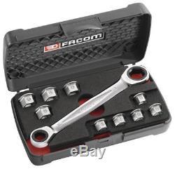 Facom 11 in 1 Ratchet Ratcheting Spanner Wrench Socket Set 464. J1PB