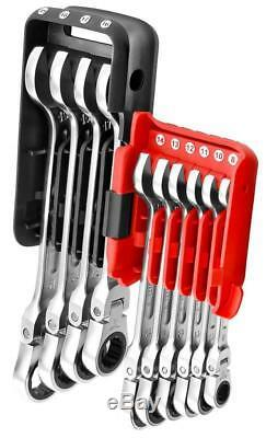 Facom 8 19mm 10pc Flexible Hinged Head Ratchet Ratcheting Spanner Wrench Set
