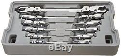 Flex Flare Nut Wrench Set And Metric GearWrench 89101D Ratcheting 180 Degrees