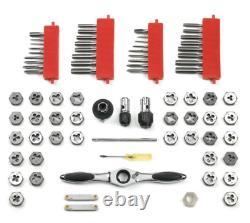 GEARWRENCH Tap Die Set SAE/Metric 5 Degree Ratcheting Twist Lock System 75-Piece