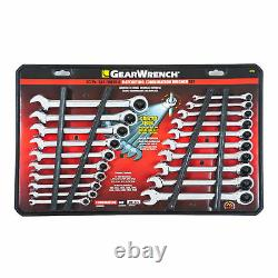 GearWrench 20-Piece Inch & Metric Combination Ratcheting Wrench Set