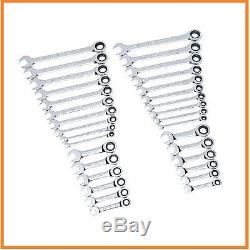 GearWrench 32 pc Piece Combination Ratcheting Wrench Set with Stubby Wrenches