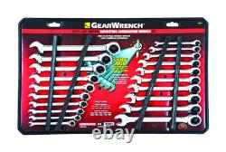 GearWrench 35720 Chrome 72T SAE/Metric Combination Ratcheting Wrench Set