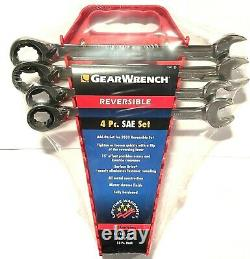 GearWrench 4pc SAE Reversible Ratcheting Combination Wrench Set 9545N For 9533