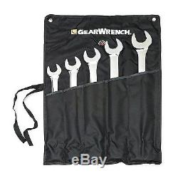 GearWrench 81921 5- Piece Large Add-On Combination Wrench Tools Set SAE Durable