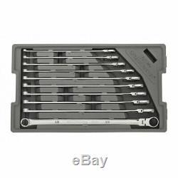 GearWrench 86126 10 Pc. 120XP Spline Metric XL Flex Ratcheting Wrench Set