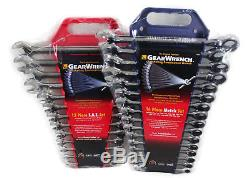 GearWrench 9312 & 9416 Metric & SAE Ratcheting Combination Wrench Set KD Tools