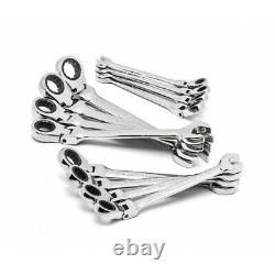 GearWrench 9901 12-pc Metric Combo Flex Head Ratcheting Wrench Set
