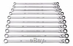 GearWrench Wrench Set 10 Pc 120XP Metric Uni Spline GearBox Ratcheting 86126