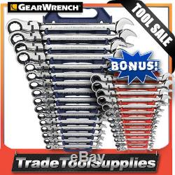 GearWrench Wrench Set 16 Pc Metric Flex Combo Ratchet 9902DB BONUS 13 PC Set
