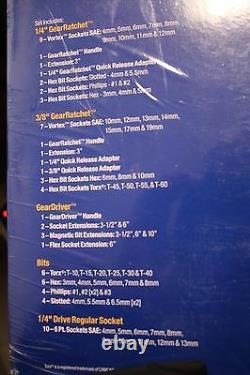 Gear Ratchet 148pc Vortex socket system set SAE&Metric Combo (GR80074&GR80174)