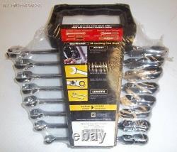 Gear Wrench 8 PC. XL Locking Flex Ratcheting Wrench Set SAE # 85798