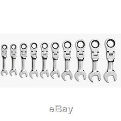 Gearwrench 10 Pc. Metric Stubby Flex Head Combination Ratcheting Gearwrench Set