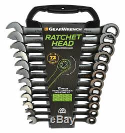 Gearwrench 12 Piece Limited Edition Black Ratcheting Wrench Set 8 19mm 9412BE