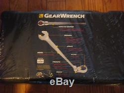 Gearwrench 85298 9 Pc SAE X-Beam Flex Head Ratcheting Combination Wrench Set