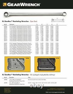 Gearwrench 85988 12 Pc XL Metric GearBox Double Box End Wrench Set with 85998
