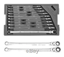 Gearwrench 86126 10 PC 120XP FLEX HEAD Ratcheting Wrench Set Plus 22 & 24mm