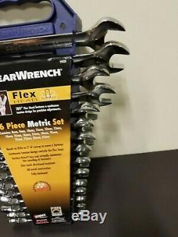 Gearwrench 9902D 16 Piece Flex Head Combination Ratcheting Wrench Set Metric