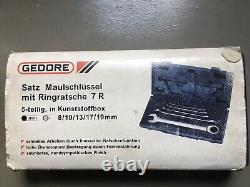 Gedore 7R -005 Combination Ratchet Ring Spanner Set Boxed