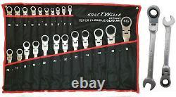 Gelenk Ratschenschlüssel Ring Maul Ratsche Schlüssel Satz 6-32mm Werkzeug Set