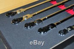 HEAD LOCK 5 Pc. Extra Long Flex Spline Ratcheting Wrench Set Ezred EZ RED WR5ML