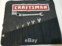 HTF Craftsman USA Locking Flex Head Ratcheting Wrench Set SAE 5/16 3/4 KZ