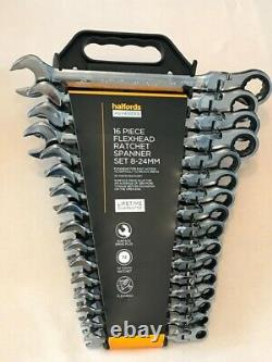 Halfords Advanced Ratchet Flexhead Spanner Set 8-24mm Professional FREE SHIPPING
