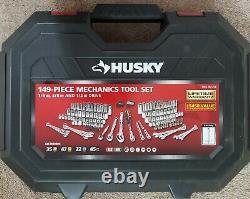 Husky H149MTS 1/4 in, 3/8 in, 1/2 in. Drive Mechanics Tool Set 149 Piece New