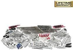 Husky Mechanics Tool Set 72-Tooth Ratchets Sockets Wrenches Chrome (605-Piece)