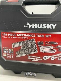Husky Mechanics Tool Set Sockets and Drivers, 149 Piece Set with Case, H149MTS