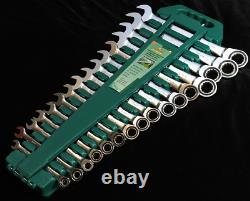 Jonnesway W45516S 16 Pcs Ratcheting Combination Wrench 72 Teeth Metric 8-24 mm