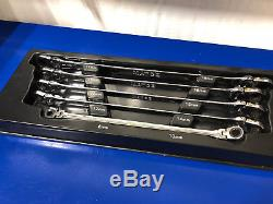 MATCO 5 Piece Extra Long Double BOX Flex Head Ratcheting Metric Wrench Set