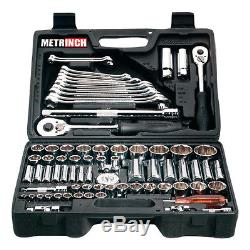 METRINCH MET-0076 Combination set 76pcs Ratchet Box 1/2 3/8 1/4 Wrench Socket