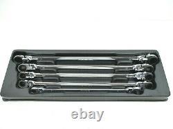 MONSTER MOBILE 5 Pc Metric Long Ratcheting Box Wrench Set Flex Head Reversible