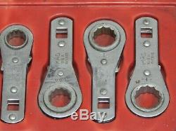 Mac 8Pc 3/8 Dr Ratcheting Torque Adapter Wrench Set 5/16 3/4 RXB RXB242 12Pt