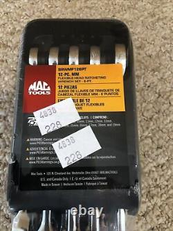 Mac Tools 12-PC. Metric Flex-Head Ratcheting Wrench Set 6-PT SRWMF126PT