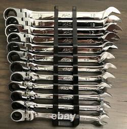 Mac Tools 12pc Standard Length 6-Pt Flex Box End Metric Ratcheting Wrench Set