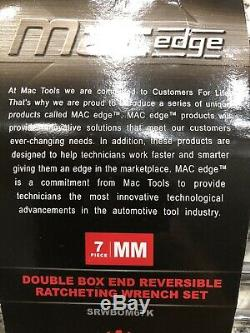 Mac Tools 7 Pc Double Box End Reversible Ratcheting Wrench Set 6 Point SRWBOM67K