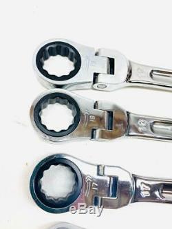 Mac Tools SRWMF212PT 12-piece Precision Torque Flex Ratcheting Wrench Set 7-19mm