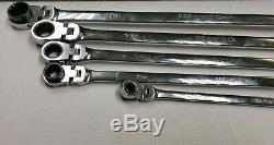 Matco Tools 5 Pc Ex- Long Double Flex Ratcheting Wrench Set Srfbxlm52ta