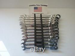 Matco Tools Metric 12 Pc Flex Head Ratcheting Combination Wrench Set #758