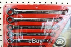 Matco Tools PRO SWING 7pc Metric 8mm-17mm Double Box Ratcheting Wrench Set (USA)